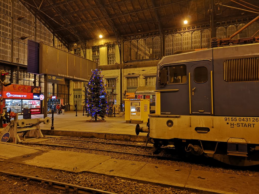 Zug Berlin Teheran. Ankunft in Budapest