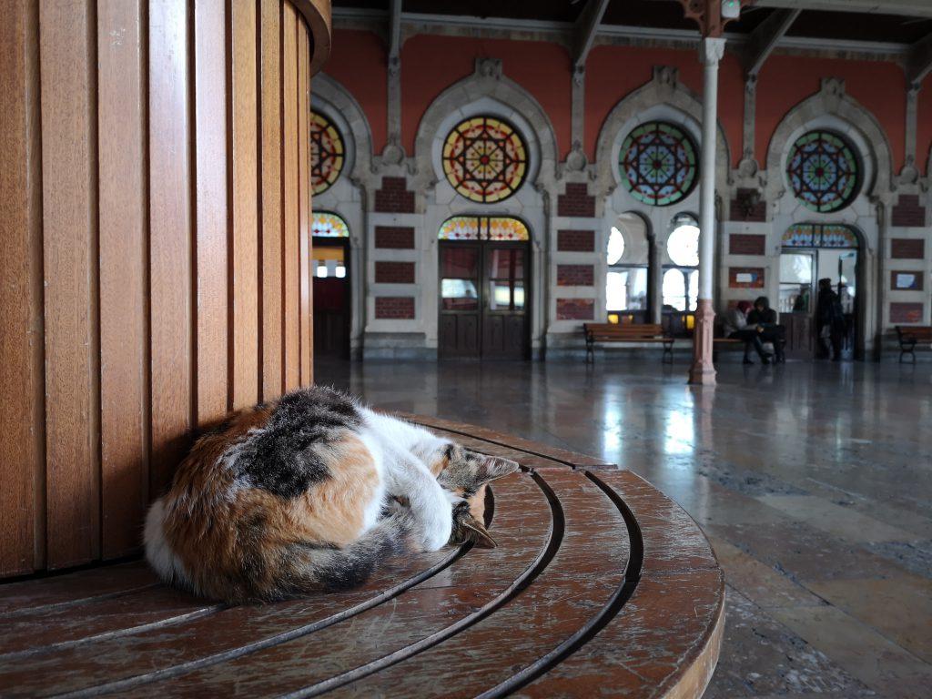 Zug Berlin Teheran Stopp am Bahnhof von Istanbul