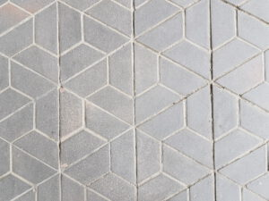 Muster Fußboden Buergersteig in Tegel Design