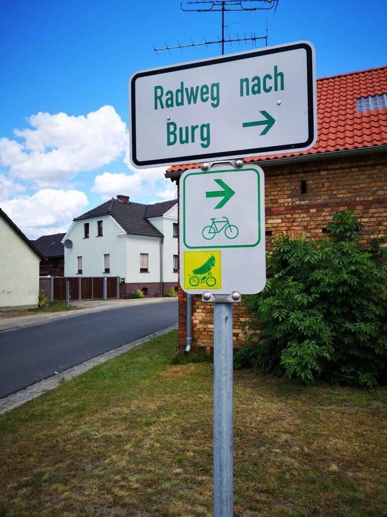 fahrradweg gurkenradweg burg luebbenau